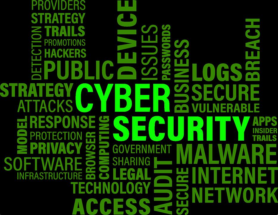 Nube de claves de ciberseguridad