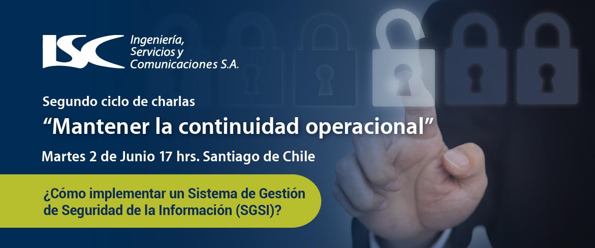 Webinar ¿Cómo implementar un Sistema de Gestión de Seguridad de la Información (SGSI)?